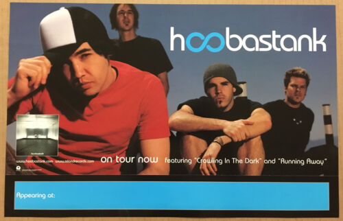 HOOBASTANK Rare PROMO TOUR POSTER for 2001 CD USA 11x17 NEVER DISPLAYED
