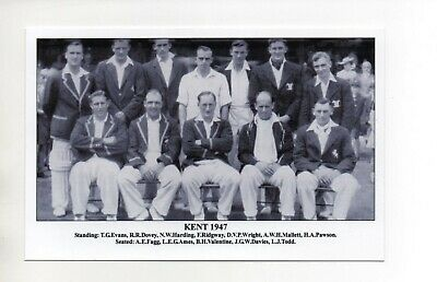 Postcard J F Sporting Collectibles - Cricket Teams  Kent 1947