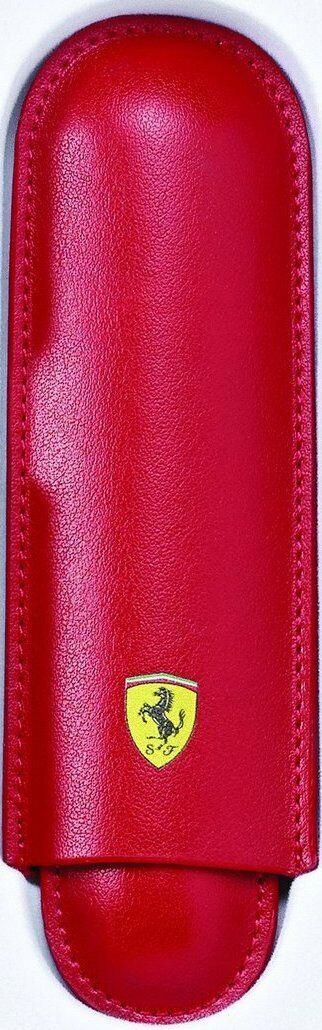 Cross Ferrari Two-Piece Slide Single Pen Case, Red, Full Grain Leather, Sheaffer Cases