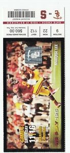 2013 USC TROJANS VS STANFORD CARDINAL COLLEGE FOOTBALL TICKET STUB 11/16/13