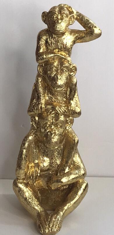 Monkey Statue Gold 3 Monkeys Monkey Family