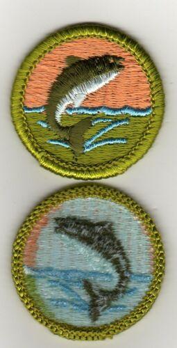 Fishing Merit Badge, Type H, Blue Back Version (1972-1975), Mint!