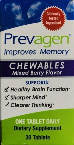 Prevagen Regular Strength Chewables 30 ct Berry Flv Improve Memory Quincy Jones