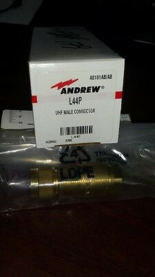 Andrew L44P UHF Male Connector New!