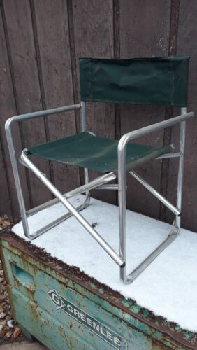 Millennium Co. Vintage Aluminum folding camping director chair MADE IN USA