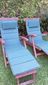 Teak outdoor steam chairs Carlton Kogarah Area Preview