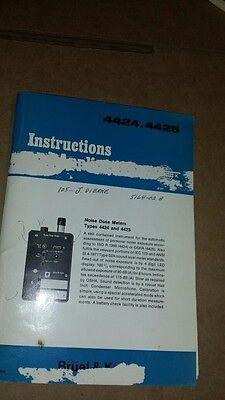 Bruel Kjaer 44244425 Manual