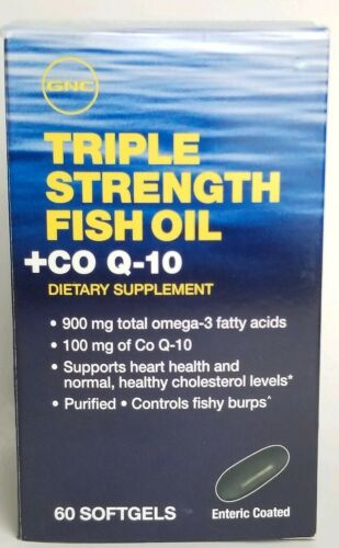 GNC Triple Strength Fish Oil Plus CoQ-10