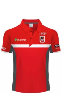 St George Illawarra Dragons NRL Red Polo T-Shirt Merrylands Parramatta Area Preview