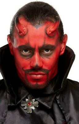 Herren Damen Halloween Teufel Hörner Make-Up Effekten Set Kostüm Kleid Outfit