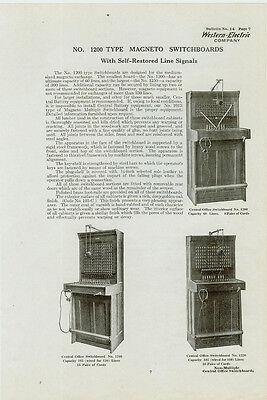 Catalog Page Ad Telephone Switchboard #2 Western Electric Baxter-Cookeville 1912