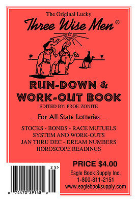 Original Lucky Three Wisemen Run Down   Work Out Book   Lottery Book
