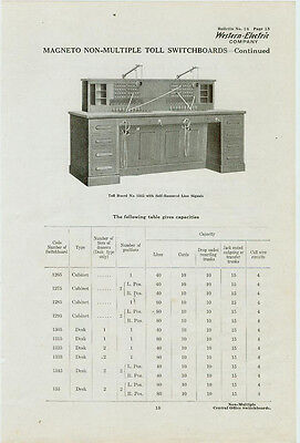 Catalog Page Ad Telephone Switchboard #3 Western Electric Baxter-Cookeville 1912