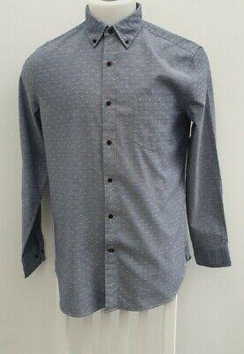 £79.50 Men's Nautica 100% Cotton Long Sleeve Slim Fit Sky Blue Shirt Top Size L