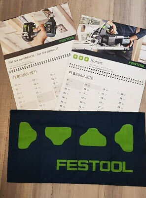 FESTOOL Mundschutz Multifunktionstuch Maske Halstuch Kalender 2021 Fanartikel