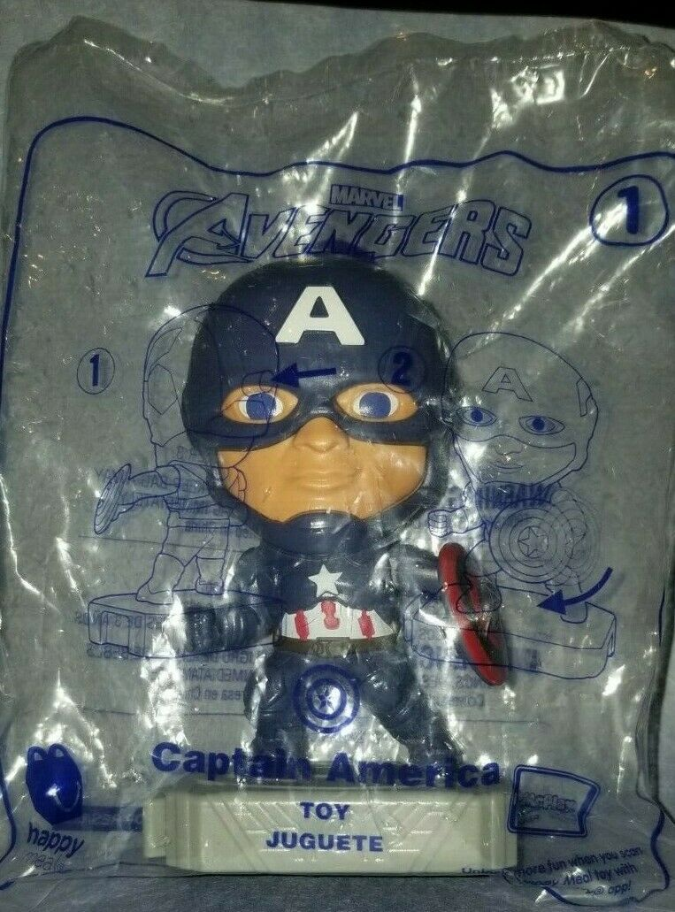Avengers (2019) McDonalds Happy Meal Toys- Fast Shipping! #1 Captain America