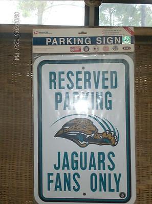 Reserved Jaguars Parking Sign & road sign~~***~~