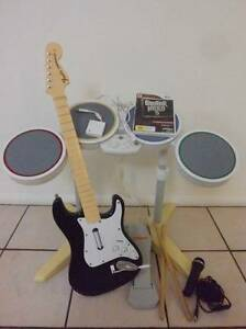 ★Nintendo Wii Drum Kit, Guitar, Microphone & Band Game Logan Village Logan Area Preview