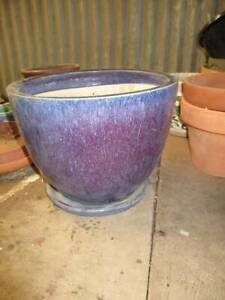 Blue Pot with saucer Windsor Hawkesbury Area Preview
