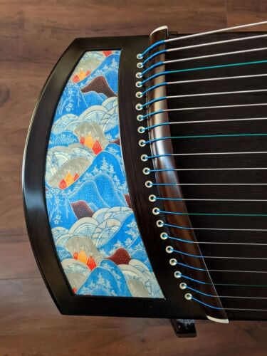 "49"" Travel 21-String Professional Blackwood Guzheng, Chinese Zither Harp"