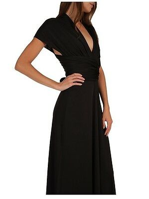 Magic Wrap Kleid ( 25 Way Convertible Maxi Wrap Dress - Magic Dress - Black - S M L - SALE!)