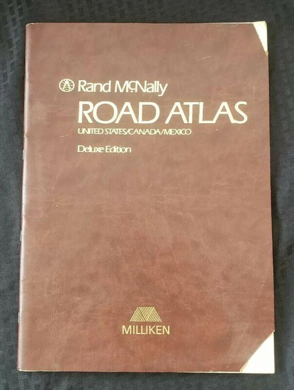 1989 Milliken Greenwood SC Rand Mcnally Road Atlas Deluxe Edition