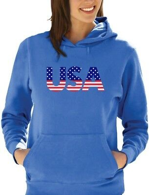 Independence Day American USA Flag 4th of July Gift Women Hoodie Patriot