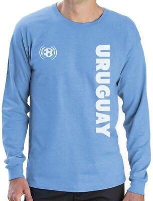 National Team Long Sleeve Tee - Uruguay National Soccer Team Football Fans Long Sleeve T-Shirt Gift Idea