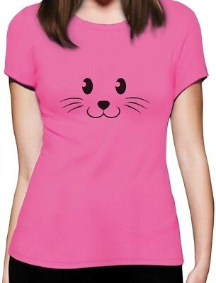 Cute Face Halloween Easy Costume Women T-Shirt Gift](Cute Easy Costume)