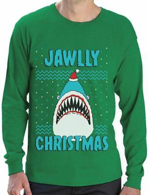 Jawlly Christmas Ugly Christmas Sweater For Xmas Party Shark Long Sleeve