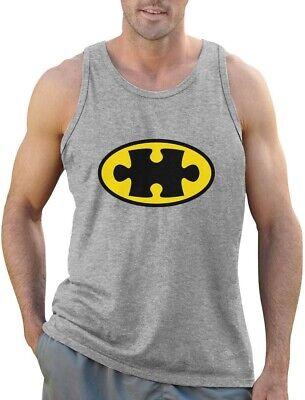 Autism Awareness SuperHero Puzzle Logo Men's Tank Top Support The Cause - Autism Superhero