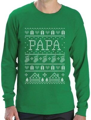 Funny Gift for Dad / Grandpa Papa Ugly Christmas Sweater Long Sleeve