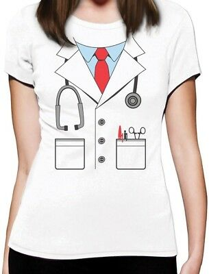 Halloween White Doctor Costume Funny Women T-Shirt Gift Idea - Halloween Costume For Women Ideas