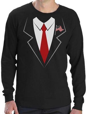Donald Trump Suit & Tie Easy Halloween Costume Long Sleeve T-Shirt Funny