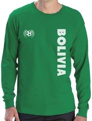 Bolivia National Soccer Team Football Fans Long Sleeve T-Shirt Gift Idea