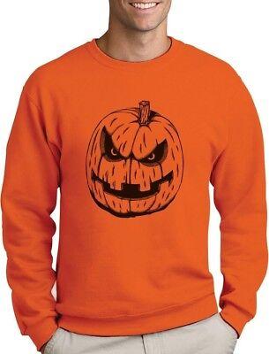 JACK O' LANTERN Easy Halloween Costume Evil Pumpkin Face Sweatshirt - Easy Halloween Lanterns