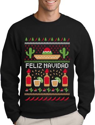 Feliz Navidad Mexican Ugly Christmas Sweater Funny Xmas Sweatshirt Gift Idea - Ugly Christmas Sweaters Ideas