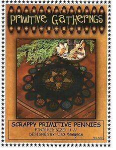 Primitive Folk Art Wool Applique Pattern: MEMORIES OF OLDE
