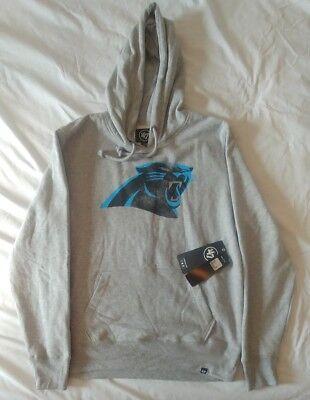 47 Brand Carolina Panthers Gray NFL Pullover Hoodie NWT MSRP $55 (Nfl Panthers Hoodie)