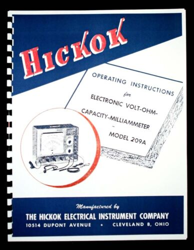 Hickok 209A Volt Ohm Capacity Multimeter Manual