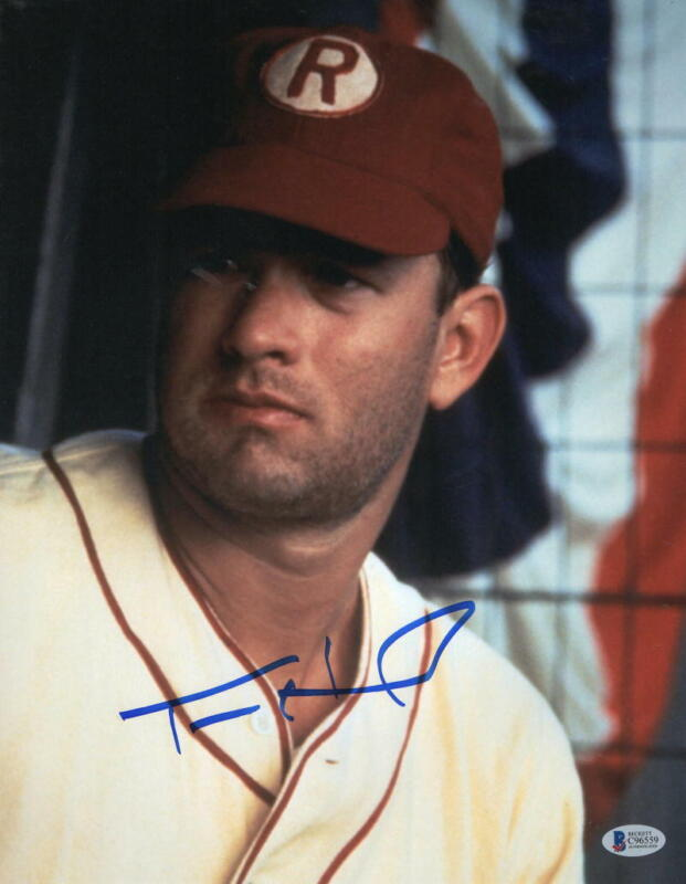 TOM HANKS SIGNED 11X14 PHOTO A LEAGUE OF THEIR OWN AUTHENTIC AUTOGRAPH BECKETT A