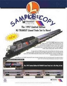 1997-LIONEL-TRAINS-NJ-TRANSIT-FLYER-NR