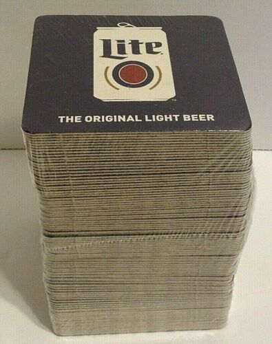 "Miller Lite Lot of 100 Coasters SEALED ""The Original Light Beer"" Qty Available"