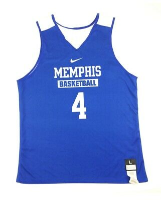 New Nike Men's L Memphis Tigers Reversible Elite Basketball Jersey Blue 683312