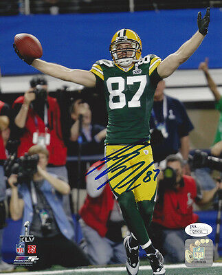 PACKERS Jordy Nelson signed 8x10 SB XLV photo JSA COA AUTO Autograph Green Bay