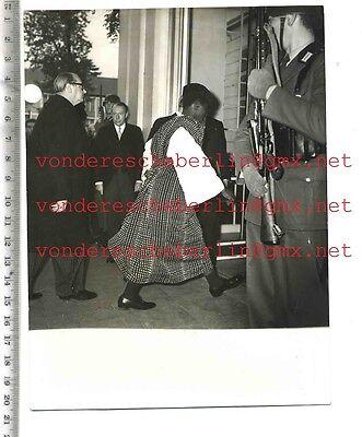ORIGINAL PRESSEFOTO: HOHER BESUCH aus AFRIKA - 50gerJhre - VINTAGE