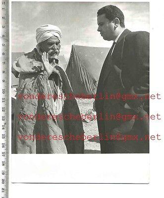 ORIGINAL PRESSEFOTO: SI HEDI MABROUK - FLUCHT aus ALGERIEN - 50gerJhre VINTAGE