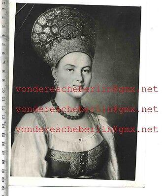ORIGINAL PRESSEFOTO: EXHIBITION of RUSSIAN ART in LONDON - 50ger Jahre - VINTAGE