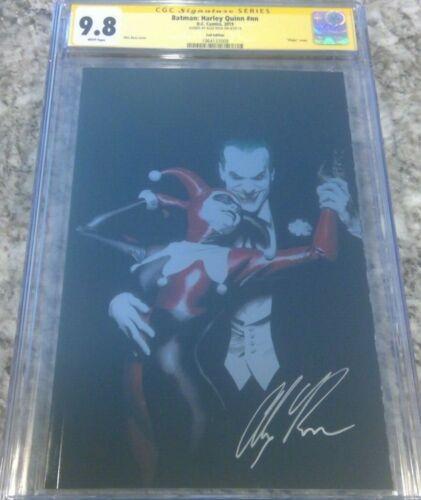 Batman: Harley Quinn - foil variant__CGC 9.8 SS__Signed by Alex Ross