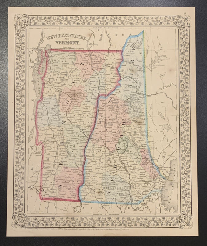 """Mitchell: """"New Hampshire and Vermont,"""" 1870"""